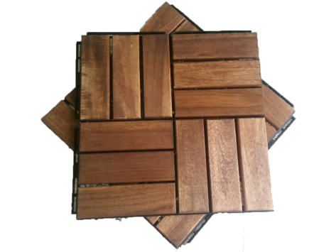 Installation tips of wood deck tiles